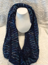Load image into Gallery viewer, Blue Diamond Sweater infinity Scarf