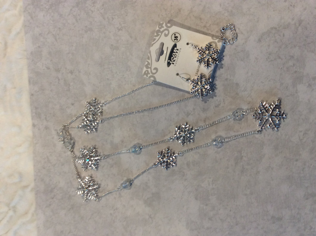 Snowflake Necklace Set