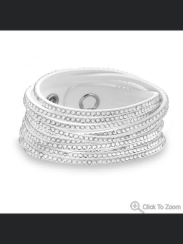 White Wrap Sparkle Bracelet