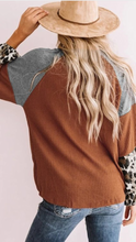 Load image into Gallery viewer, Leopard Print Waffle Knit Top