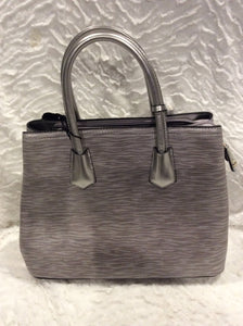 Silver Leather Styled Handbag