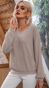 Comfy Waffle Knit Top