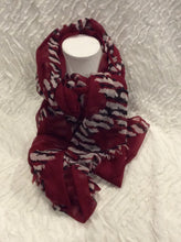 Load image into Gallery viewer, Red Zebra Graphic Scarf