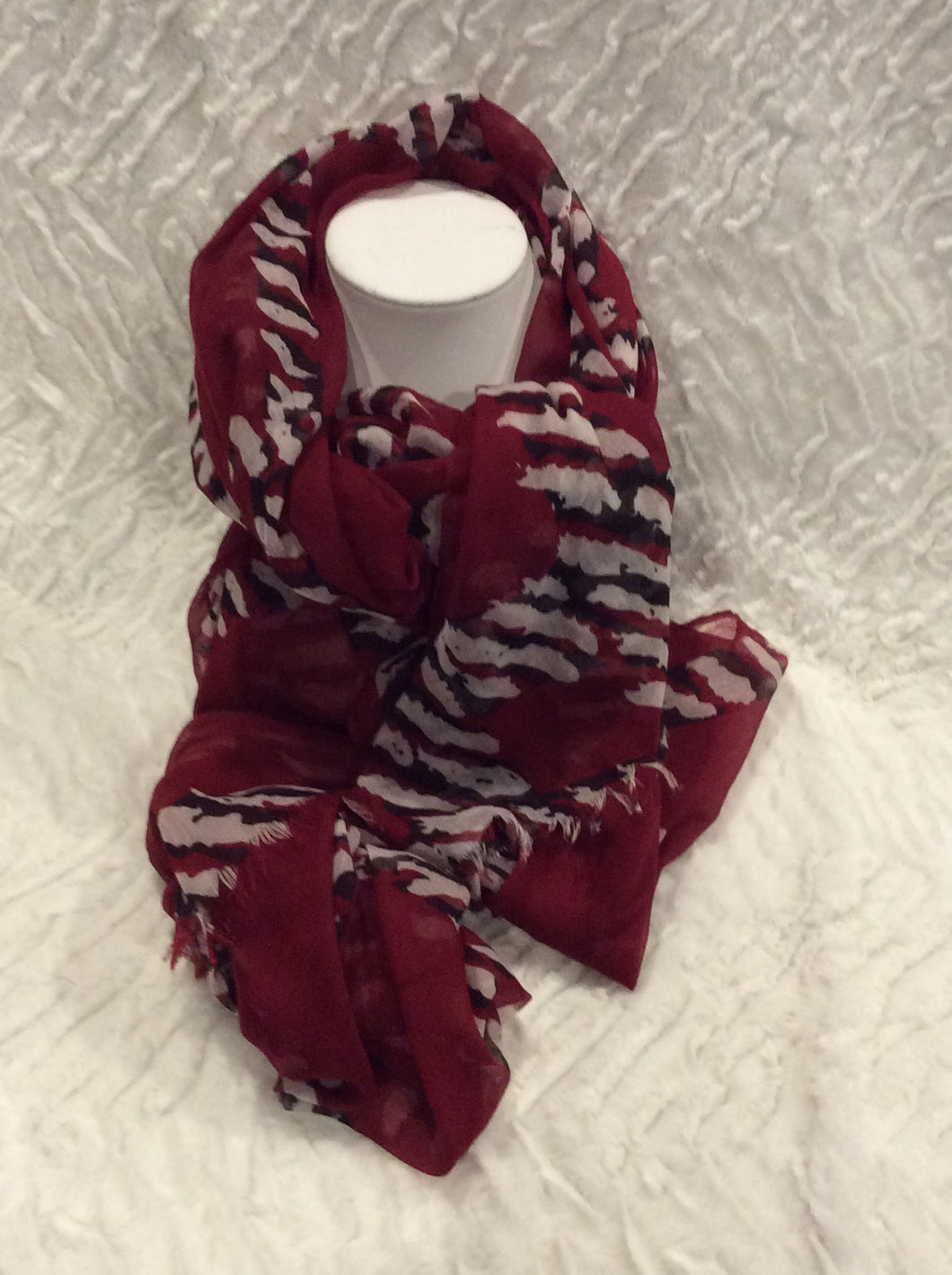 Red Zebra Graphic Scarf