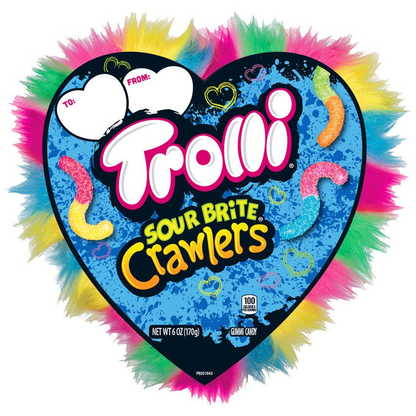 Sour Gummy Worms Heart