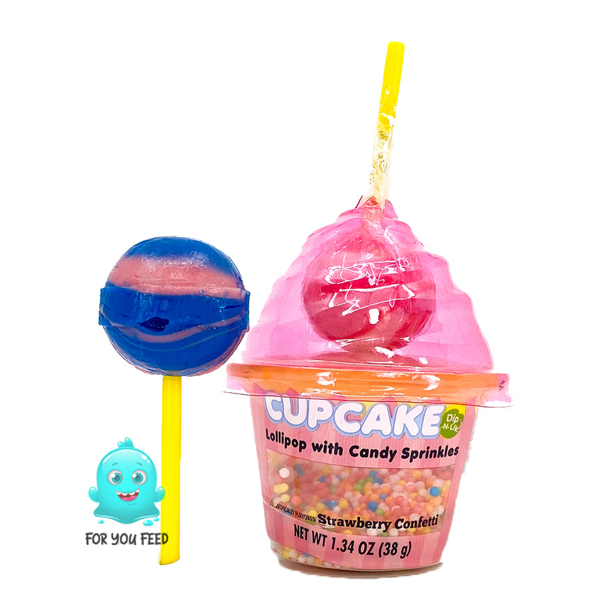 Cupcake Ice Cream Dip Lollipop