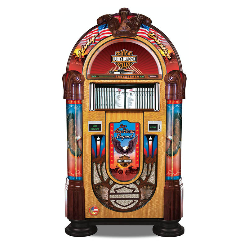 Rock-Ola Bubbler Harley-Davidson CD Jukebox