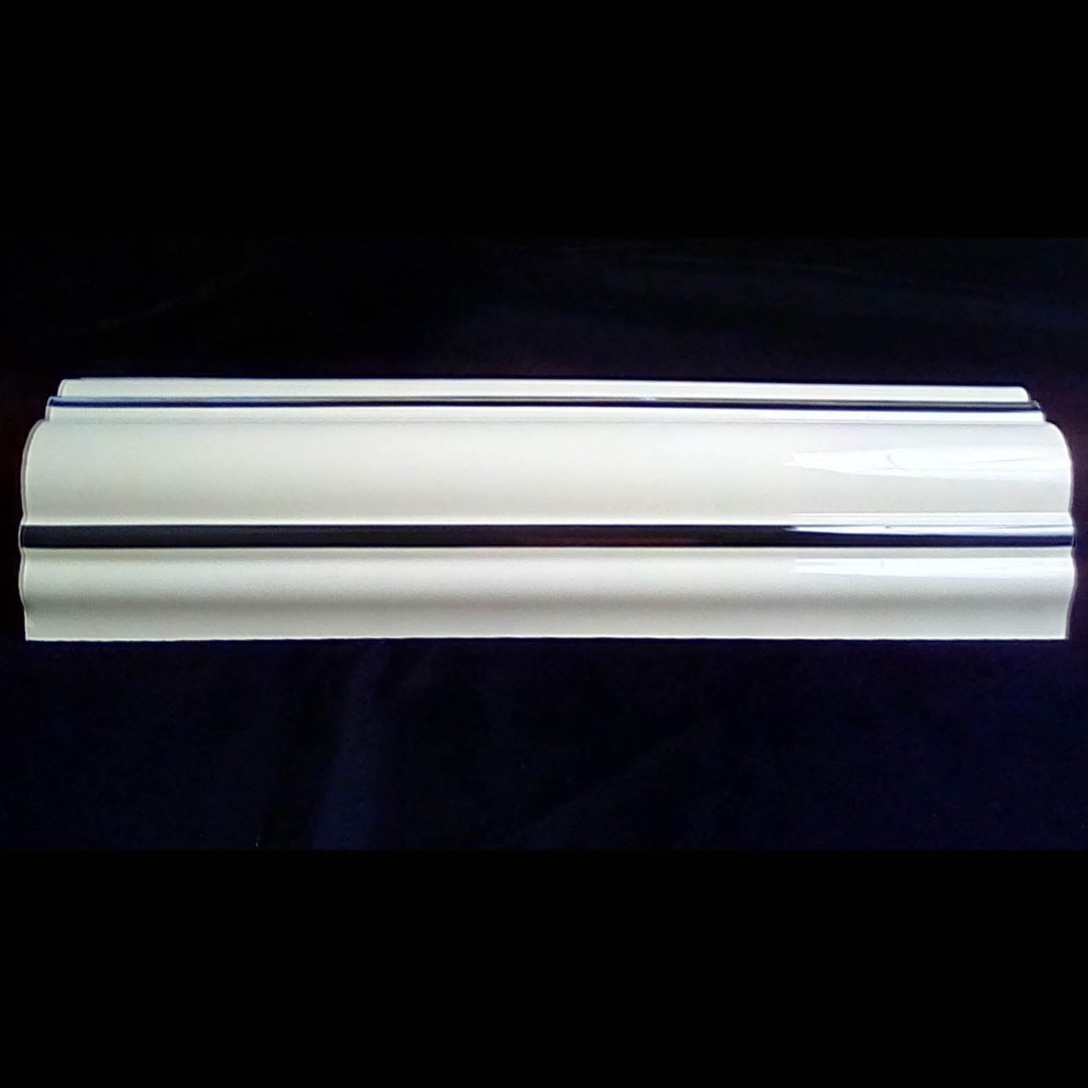 Rock-Ola Jukebox Outer Pilaster Cream Plastic Straight