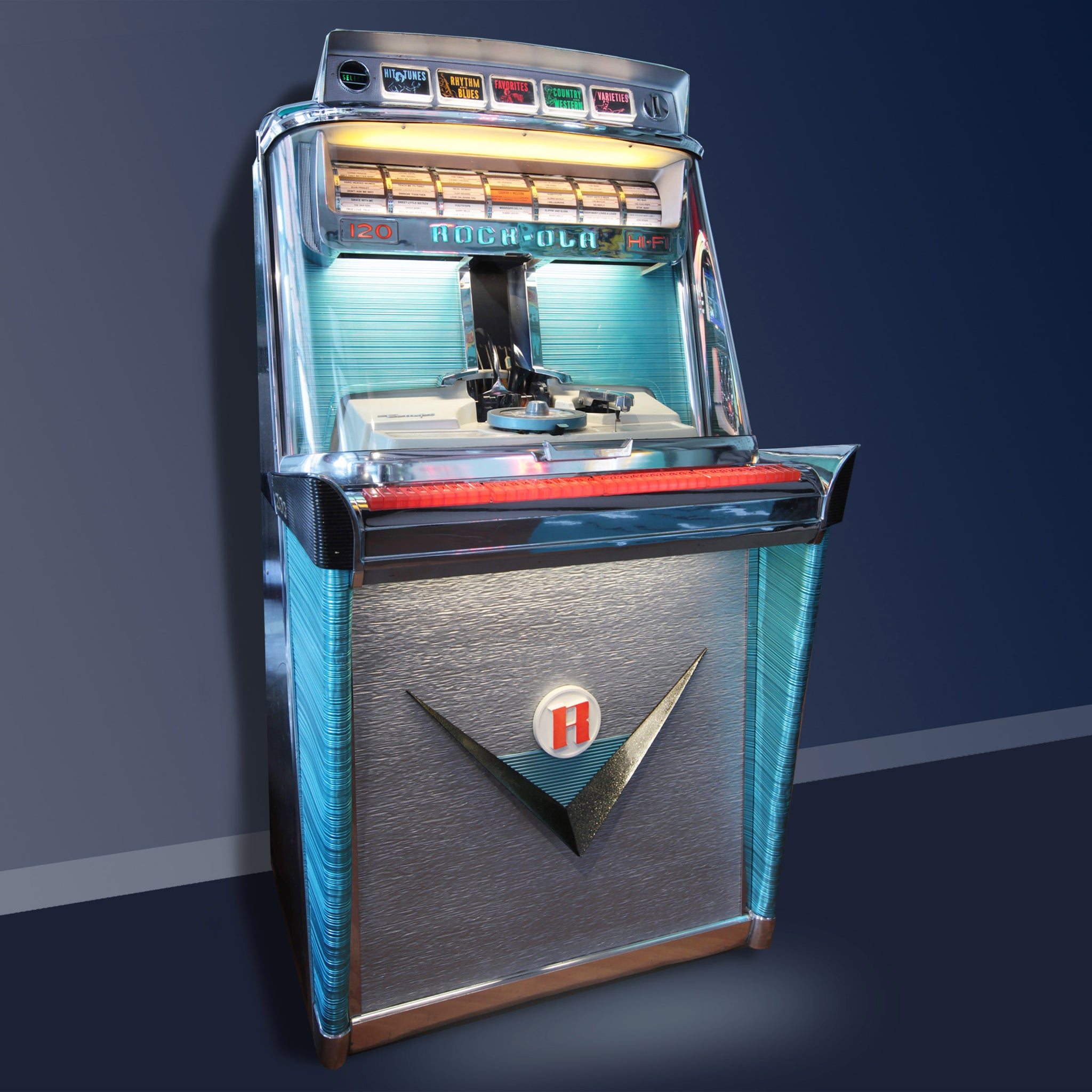 The 1968 Rock Ola Tempo 1 120 selection Jukebox