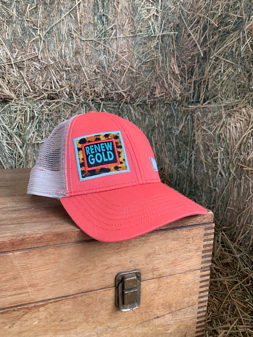 Pink Renew Gold Big Truck Brand Hat