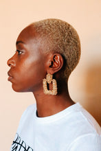 Load image into Gallery viewer, Textured Golden Blocks Earrings