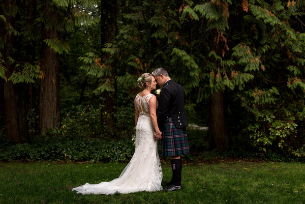 Scottish weddings - the bride and the groom