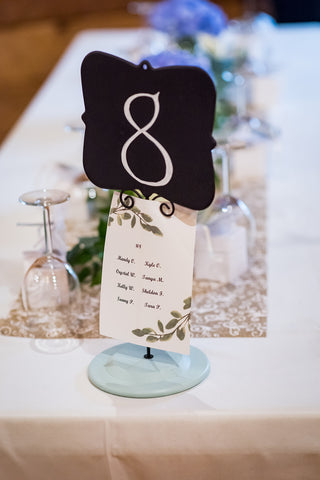 Table number from Scottish Wedding
