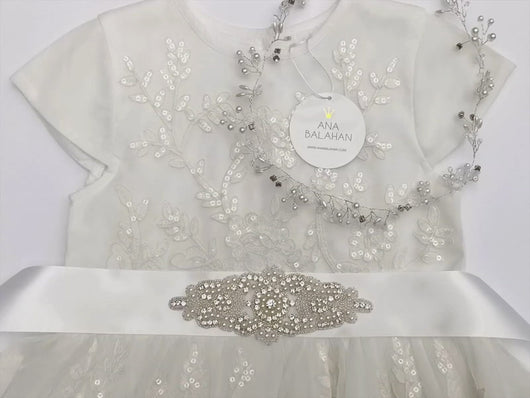Video 104 rhinestone applique style wedding sash bride or bridesmaids belt by Ana Balahan