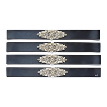 Load image into Gallery viewer, 104 Wedding sash with beads gems rhinestone applique Ana Balahan