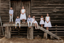 Load image into Gallery viewer, Adelina dress Ana Balahan flower girls and page boys at wedding