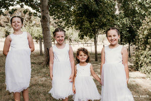 Adelina dress Ana Balahan four flower girls at wedding in their beautiful and comfortable attire