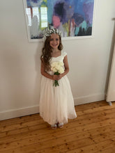 Load image into Gallery viewer, Annabelle dress Ana Balahan Pretty flower girl in floor length classic ivory color dress