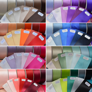 Color chart satin ribbon 5 cm for rhinestone applique belt Ana Balahan