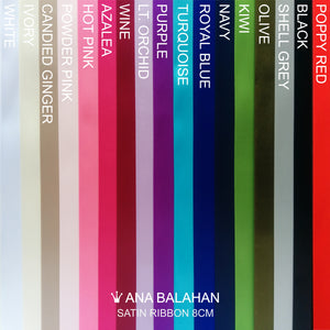 Color chart 8 cm satin belt Ana Balahan