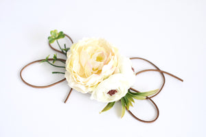 Ivory color floral sash