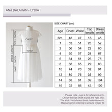 Load image into Gallery viewer, Lydia Size Chart Ana Balahan