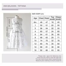 Load image into Gallery viewer, Tatyana dress Size Chart Ana Balahan