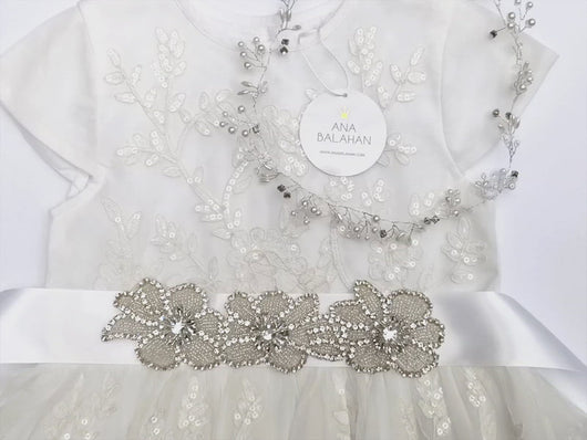 Video 123-3 Rhinestone applique style with sequin dress