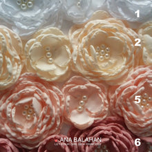 Load image into Gallery viewer, Closer view of floral sashes for Bluma dress