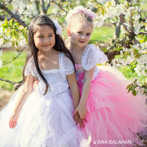 Two girls in tutu dresses