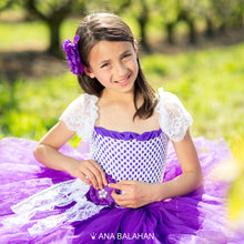 Load image into Gallery viewer, Jacaranda blossom	tutu dress closer view