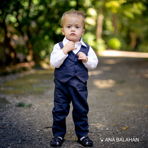 Boy in a suit before a wedding