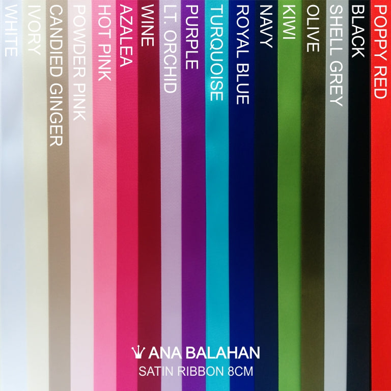 Satin sash colours chart palette