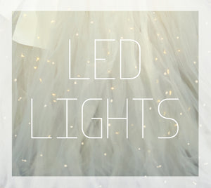 Let your girl be a fairy princess with these white LED lights worn with an Ana Balahan tutu dress