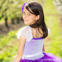 Load image into Gallery viewer, Jacaranda blossom	purple tutu dress back view