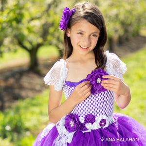 Jacaranda blossom	purple tutu dress front view