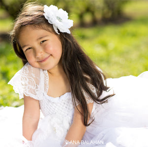 Little princess in a Jasmine Blossom tutu dress