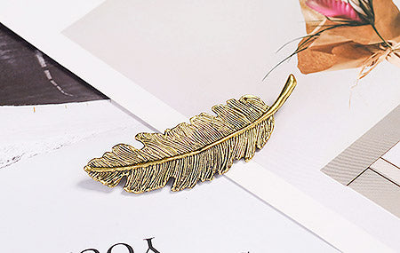 Vintage Feather Hair Clip