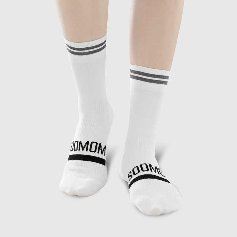 Reflective Chic Logo Cycling Socks - White