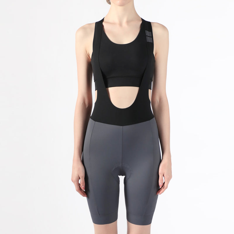 Women's Essential Bib Shorts - Grey
