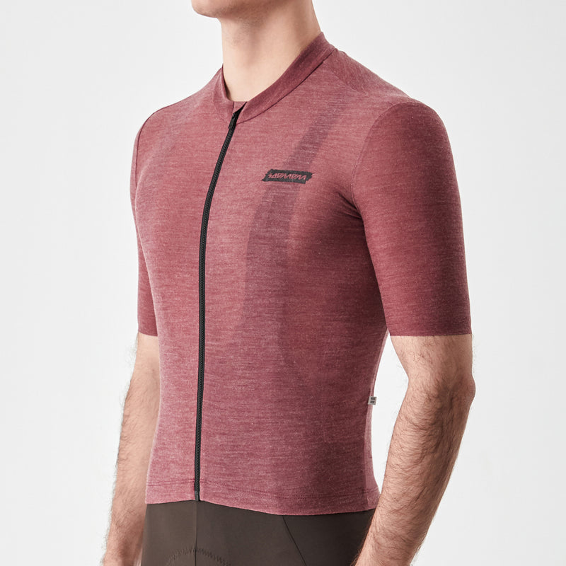 Men's Merino Cycling Jersey - Maroon