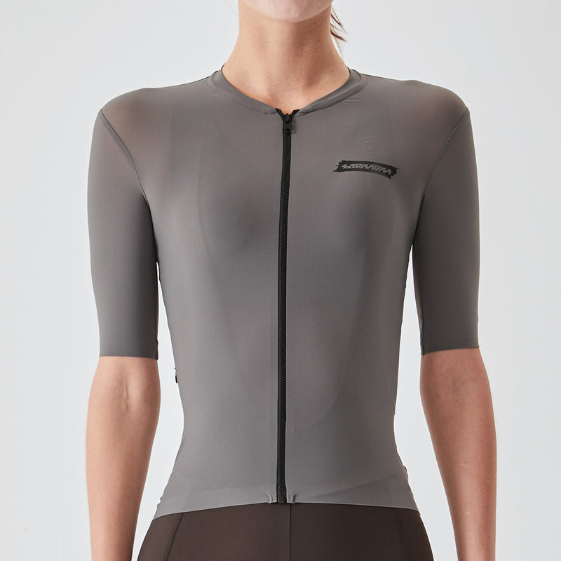 Women's Essential Cycling Jersey - Grey