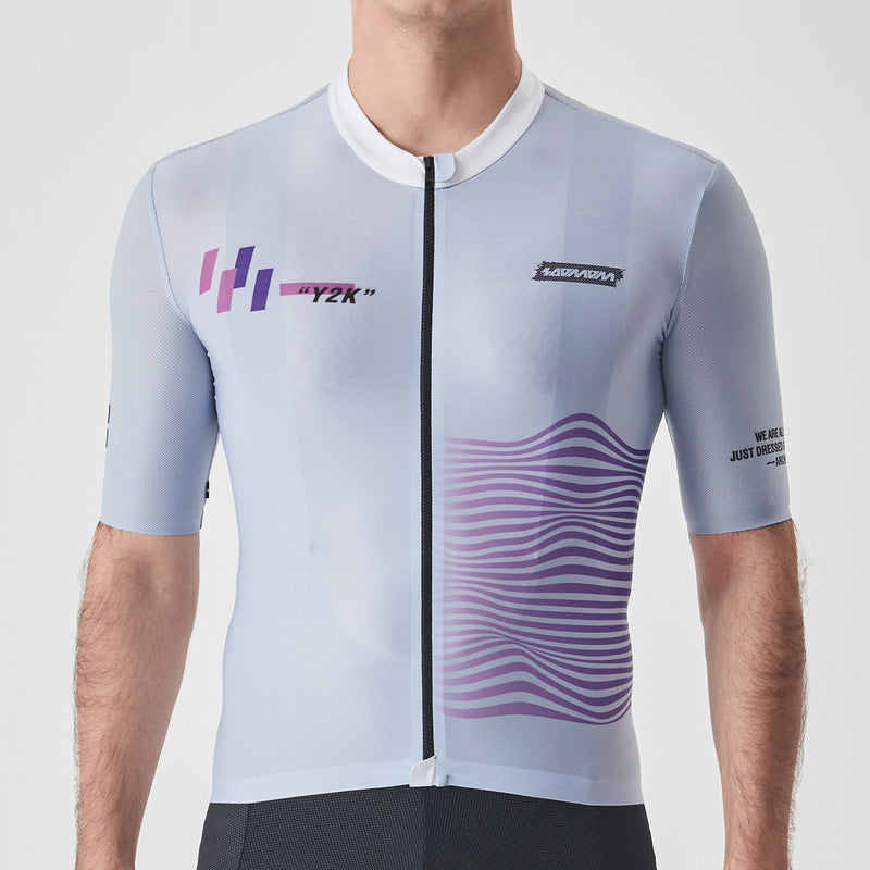"Men's ""Y2K"" Reflective Cycling Jersey"