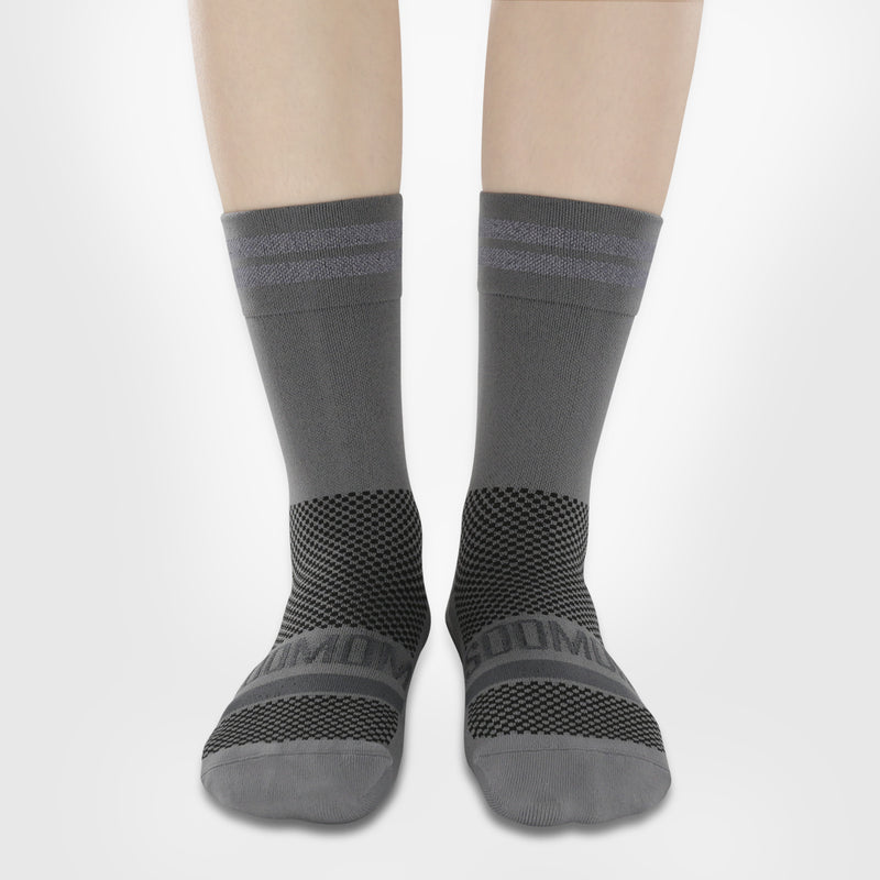 Reflective Chic Logo Socks - Grey