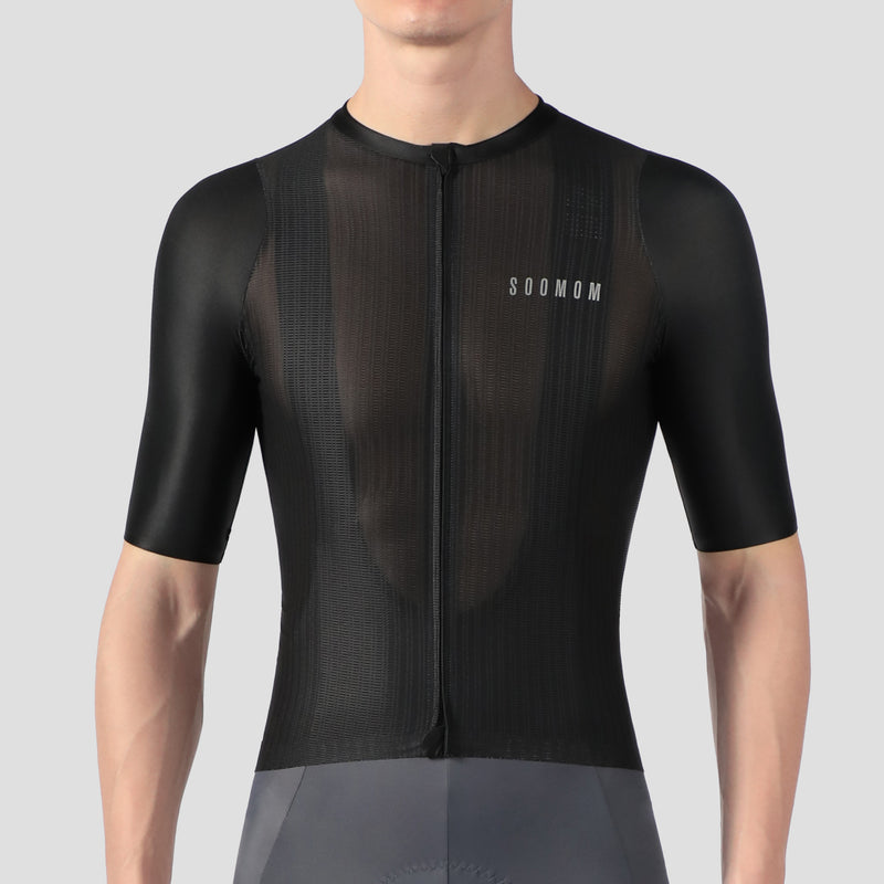 Men's Lightweight Cycling Jersey - Black
