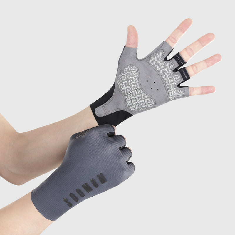Pro Race Cycling Mitts - Dawn Grey