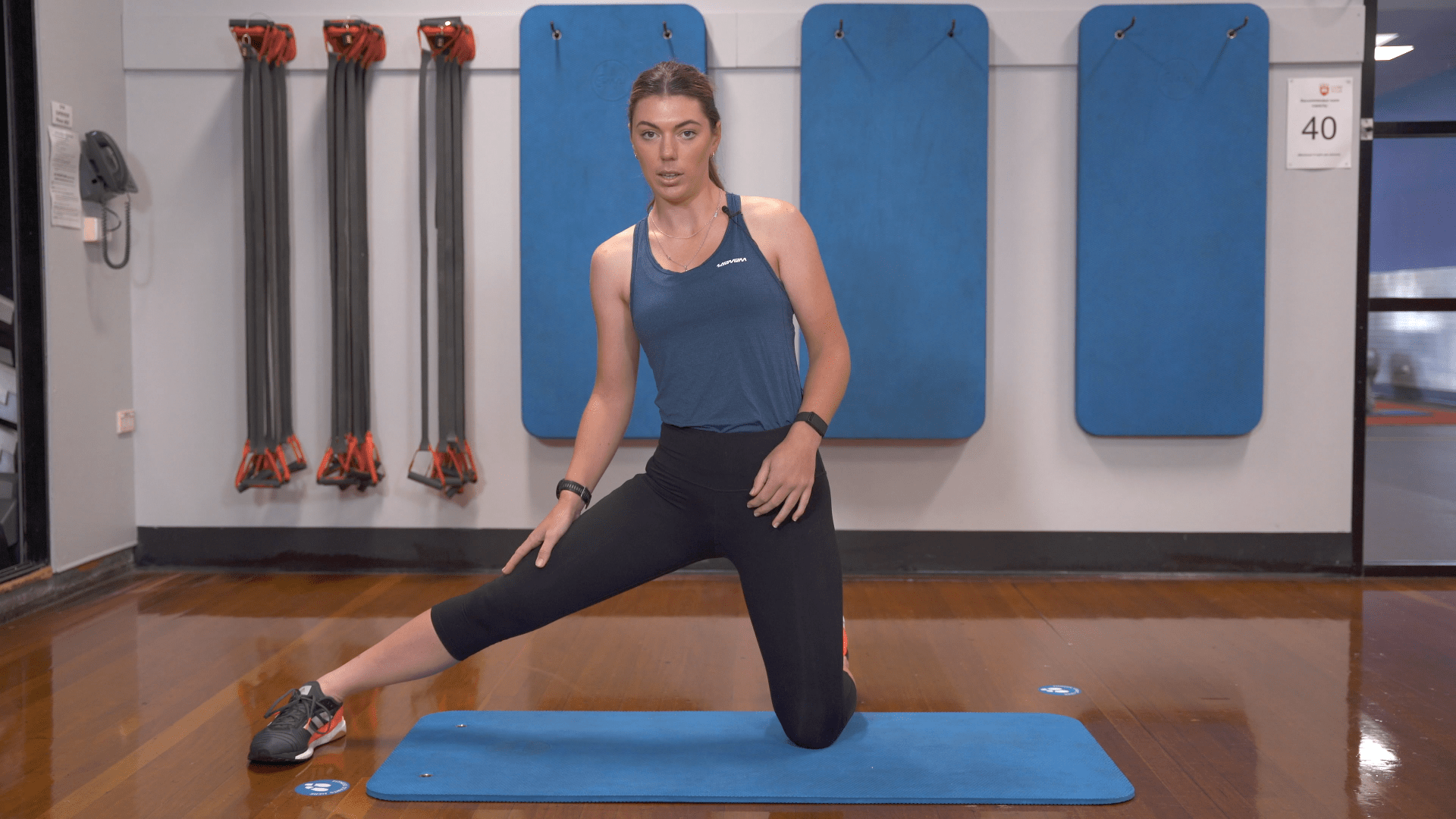 side adductor lunge exercise