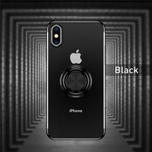 Load image into Gallery viewer, Multi Purpose Ring Clear Phone Case For iPhone iPhone 7 8 6 6S Plus X XS XR Xs Max