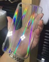 Load image into Gallery viewer, Gradient Rainbow Clear Phone Case for iPhone X XS Max Xr 8 7 6 6S Plus Acrylic Hard Transparent Case
