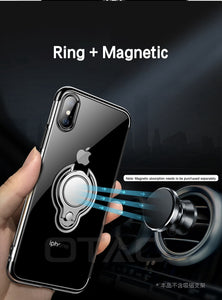 Finger Ring Holder Cover Ultra Thin Transparent Clear Phone Case For iPhone XS MAX XR X 8 7 6 6S Plus